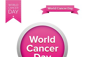 World Cancer Day vector set