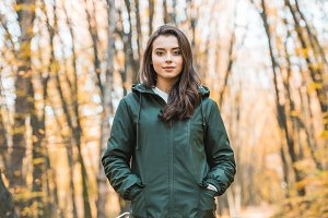 beautiful young woman in jacket look