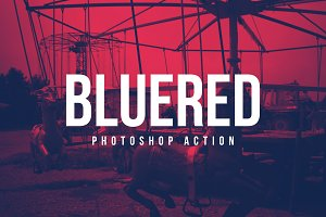 BlueRed Effect Photoshop Action