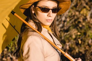 stylish elegant woman in sunglasses