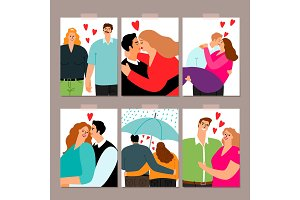 Couple in love cards collection