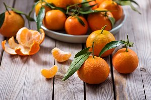 Tangerines, mandarin citrus fruits