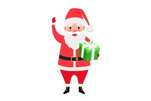 Santa and gift box