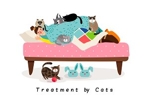 Treatment by cats