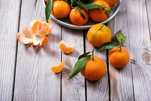 Tangerines, mandarins, fresh citrus