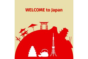 Welcome to Japan travel background