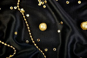 Luxury black background with gold  s