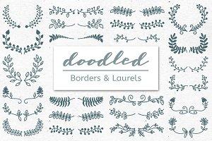 Doodled Borders & Laurels