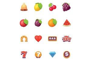 Vector slots symbols icon set