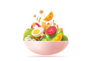 Vector green salad icon