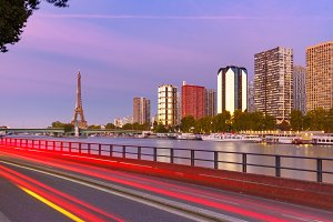 Eiffel tower and quay de Grenelle