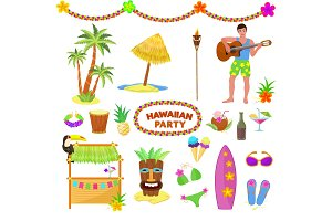Hawaii party vector woman or man