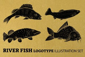 River Fish logotype