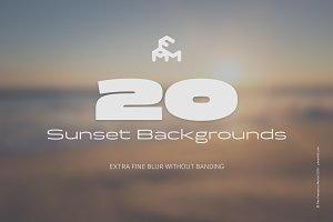 20 Blurred Sunset (Backgrounds)