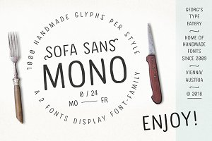 Pack of 2 Hand drawn Monoline Fonts