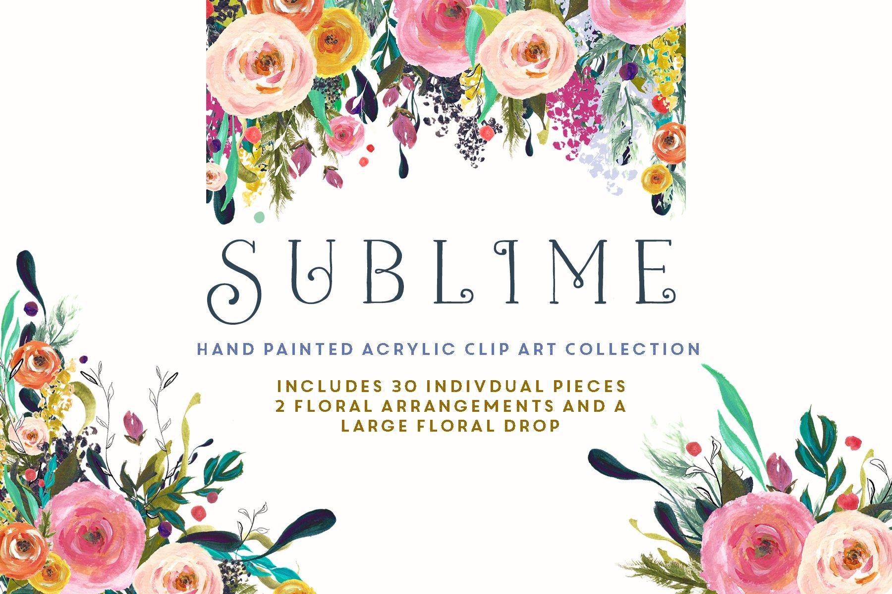 Flower Clip Art - Sublime ~ Illustrations ~ Creative Market
