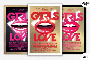 GIRLS LOVE Flyer Template