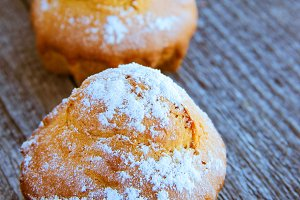 Homemade fresh muffins.