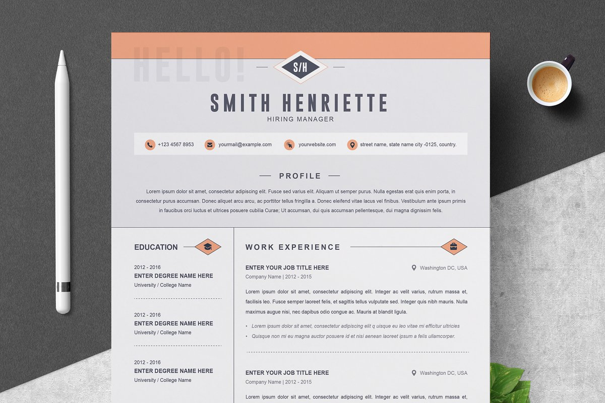 Modern Resume Template Free Download Word.Creative Resume Cv Template Resume Templates Creative