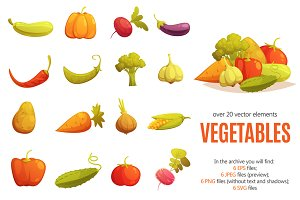 Vegetables Cartoon Set