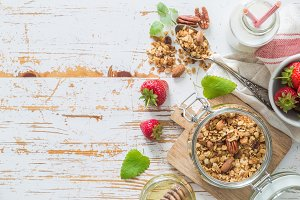 Breakfast - yogurt with granola and