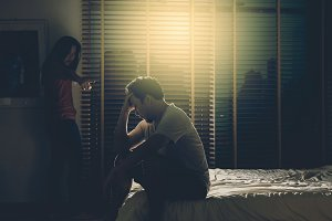 depressed Couple Husband and wife si