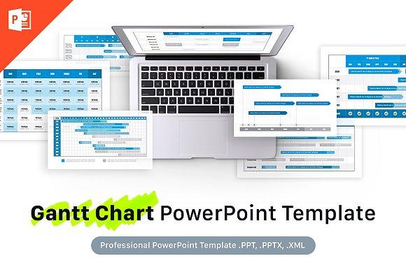 Gantt Chart Powerpoint Template Presentation Templates Creative