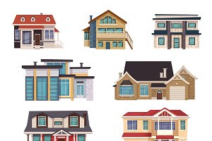 Suburban houses collection
