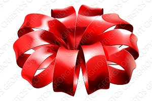 Gift Ribbon Red Bow Wrap