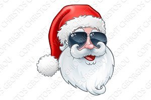 Cool Santa Claus Christmas Cartoon