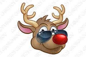 Cool Reindeer Christmas Cartoon