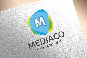 Letter M - MediacoLogo