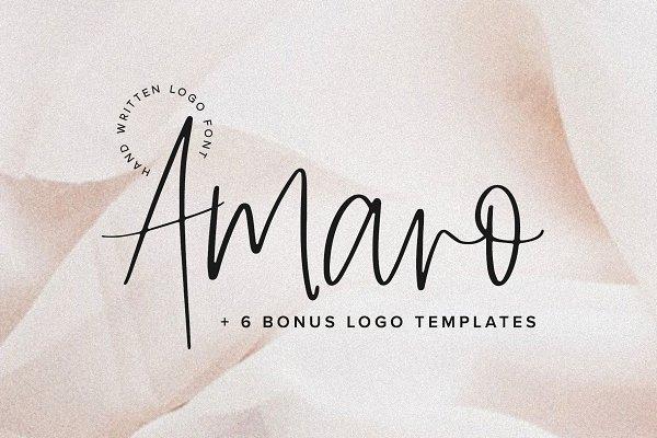 Amaro | Script + 6 Free Logos