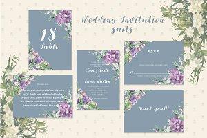 Handmade Floral Wedding Invitation