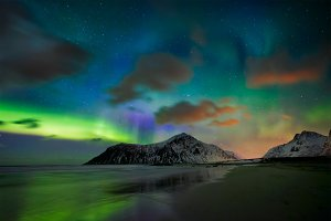 Aurora borealis northern lights