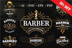 Barber Emblems | Logo Templates