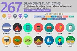 Blanding Flat Icons