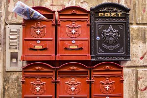 Swiss Guards mailboxes in Rome
