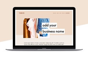 Squarespace Template: Thrive