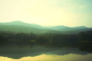 Landscape of nature lake