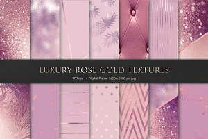 Luxury Rose Gold Textures