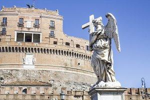 statues on the bridge of saint Angel