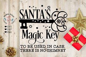 Santa Magic Key Christmas Cut File