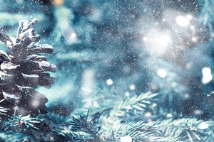 Christmas or New Year background wit