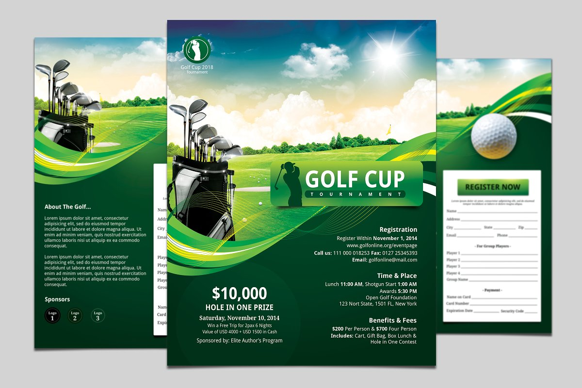 Golf Flyer With Registration Form
