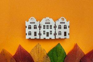 Concept of autumn  city
