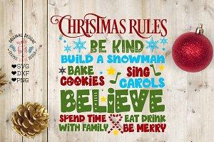 Christmas Rule Home Decor SVG