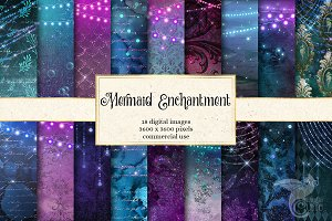 Mermaid Enchantment Digital Paper