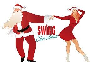 Christmas couple dancing I