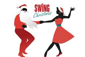 Christmas couple dancing III